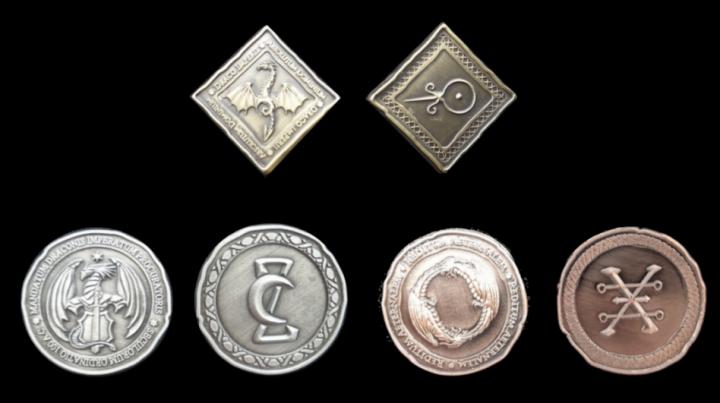 LARP-Münzen Drachen 2