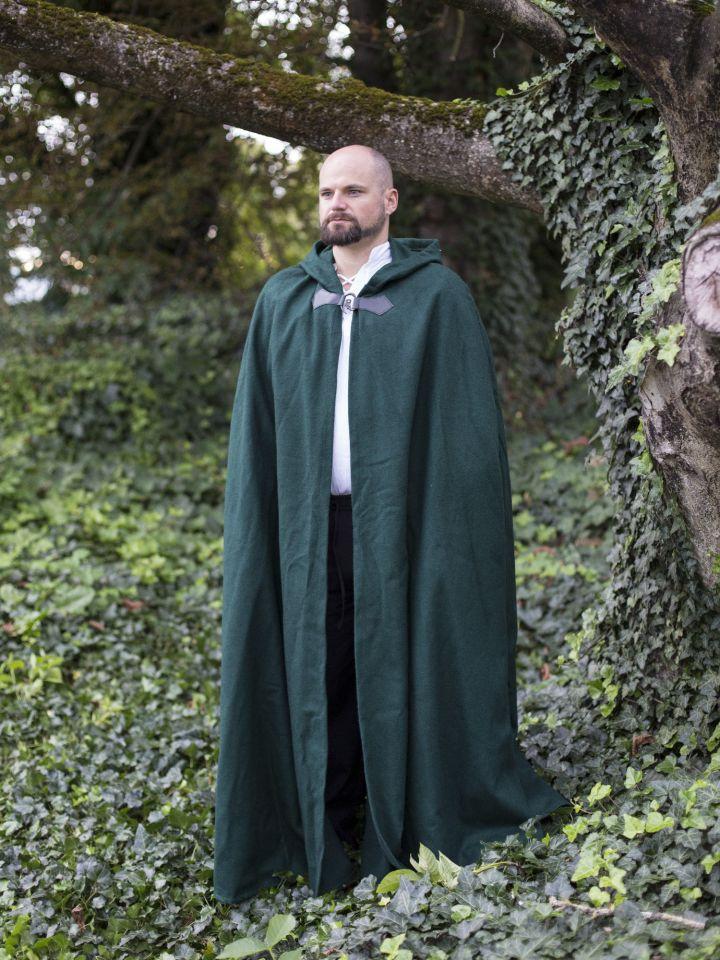 Wollumhang mit Drachenspange grün 161 cm 2