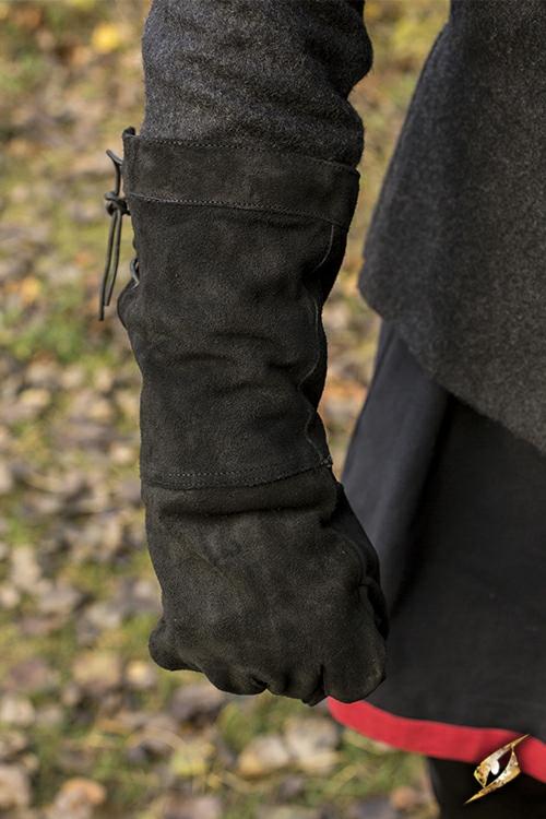 Wildlederhandschuhe schwarz M 2