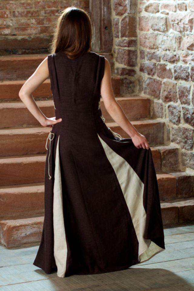 Ärmelloses Kleid braun M 2