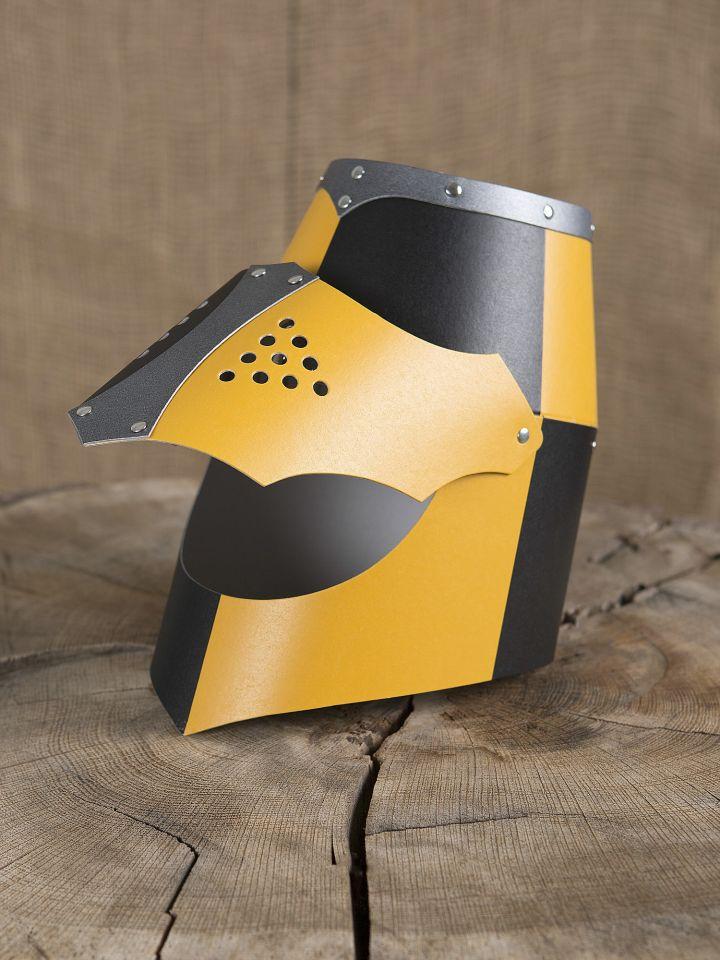 Normannenhelm für Kinder gelb-schwarz 2