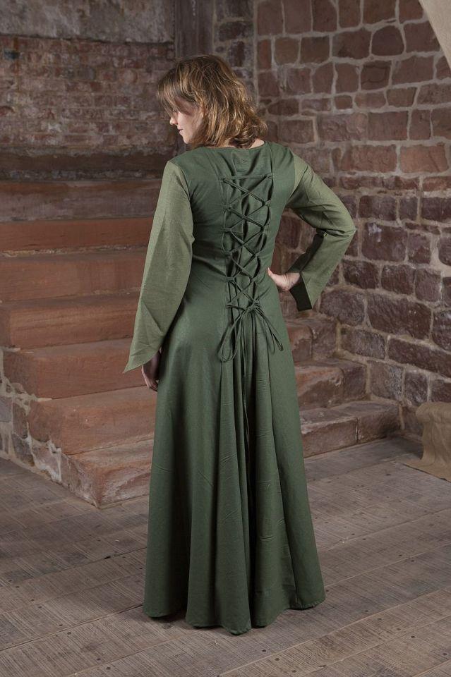 Mittelalterkleid Larea in grün 40 2