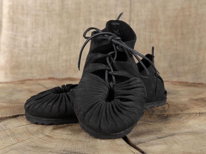 Bundschuhe (mit fester Sohle) 38 | schwarz 2