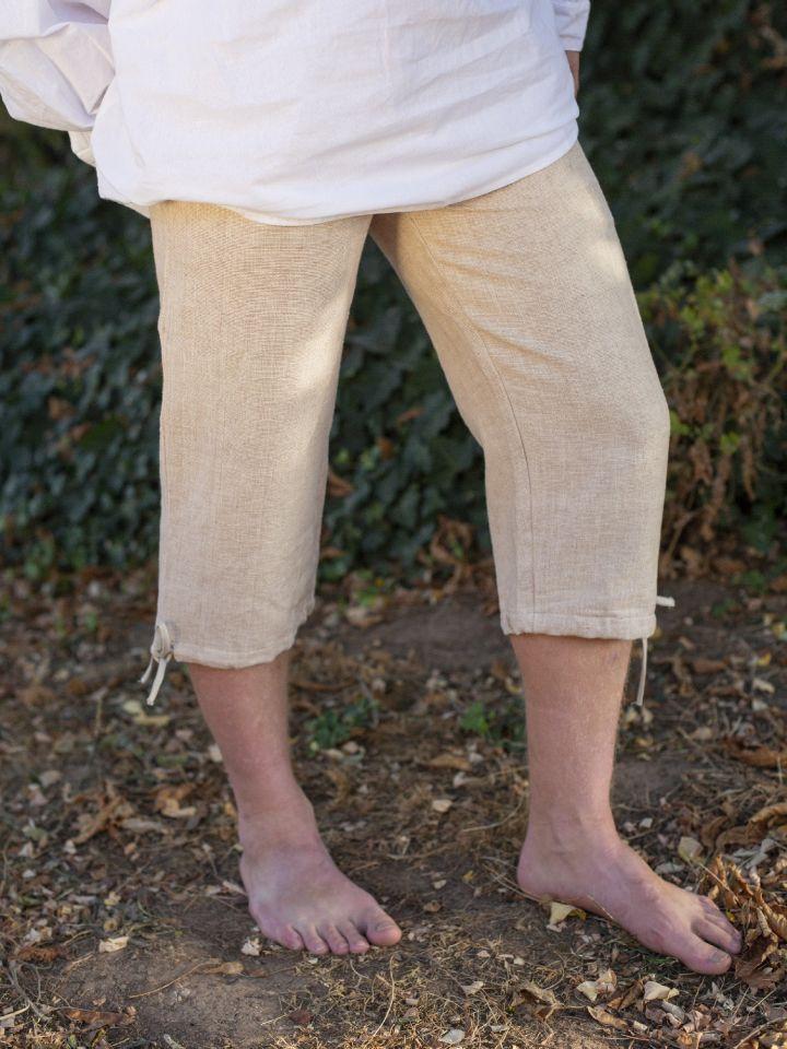 Einfache Kniebundhose hanf 2