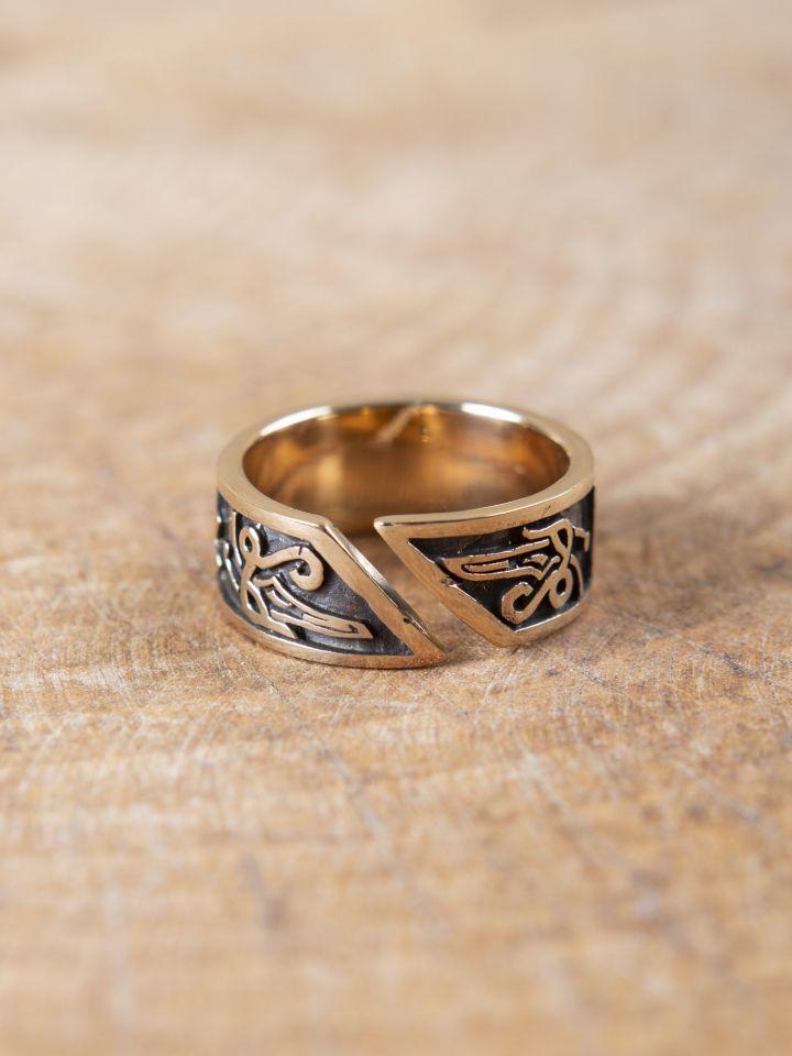 Runenring aus Bronze 2