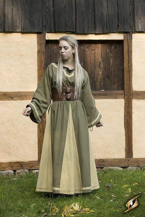 Kleid Astrid oliv-sand 2