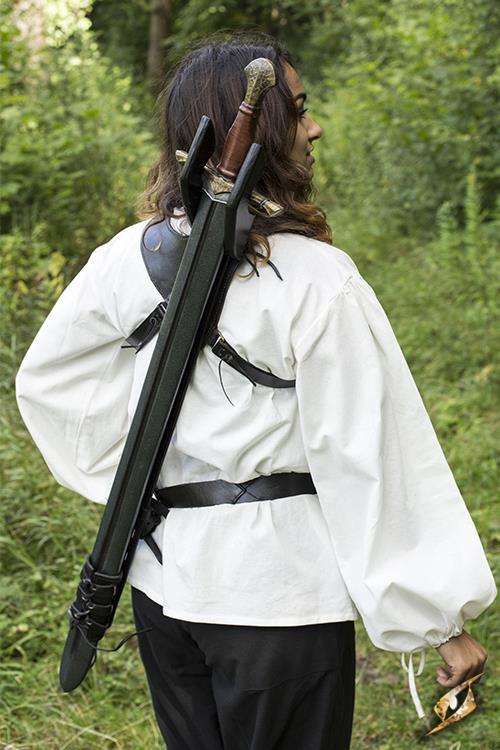 Rücken-Schwerthalter für LARP-Schwerter schwarz 2