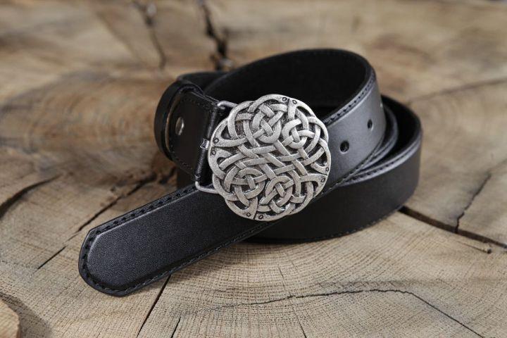 Ledergürtel Keltischer Knoten braun 2