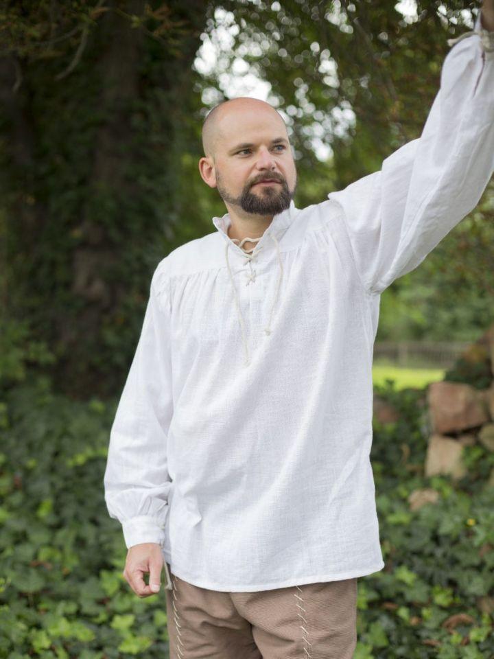 Mittelalterhemd Leinen M | weiß 2