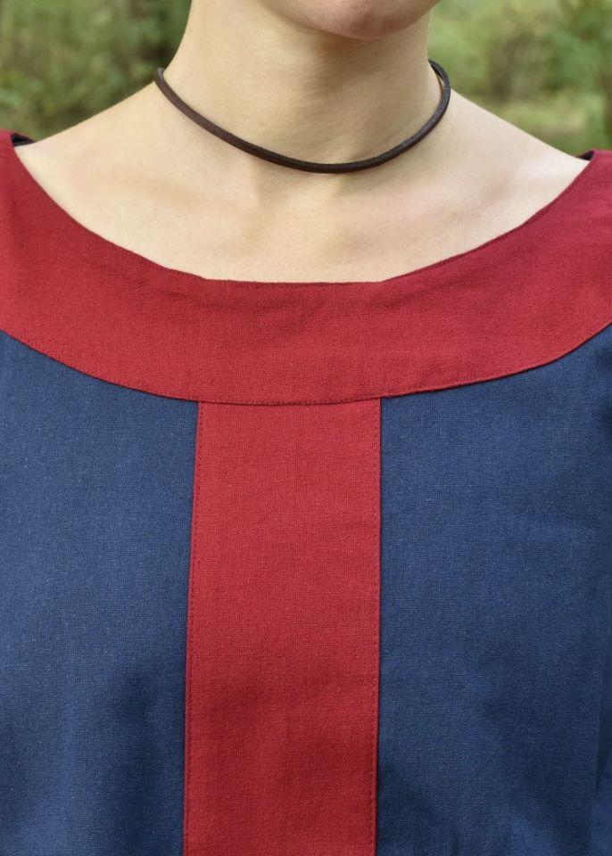 Mittelalterkleid Radegundis blau-rot 2