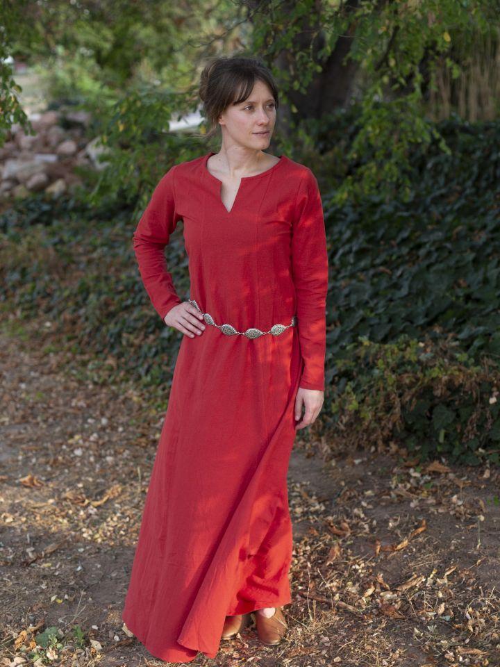 Schlichtes Unterkleid rot 2