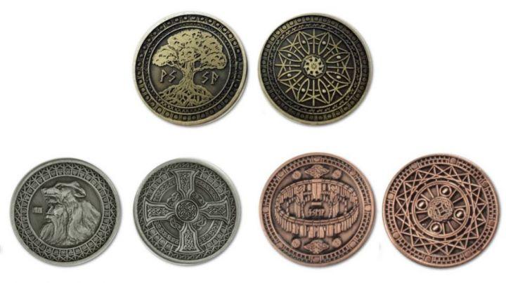 LARP-Münzen Erde ohne Lederbeutel 2