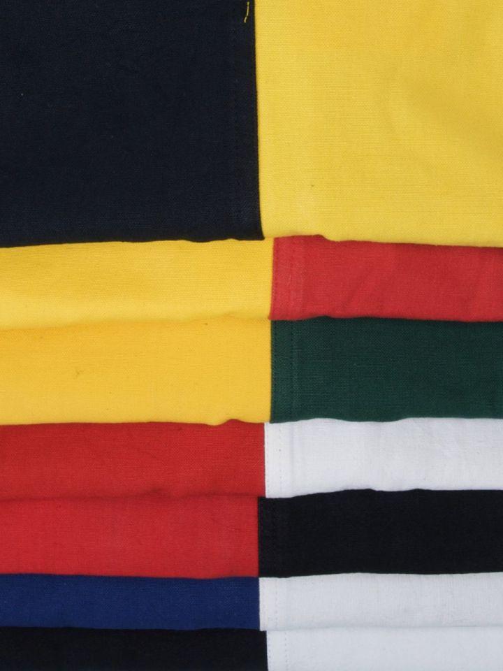 Waffenrock - mit Schachbrettmuster grün-gelb 2