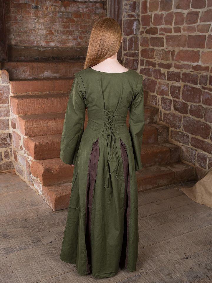 Mittelalterkleid Alina oliv-braun 2
