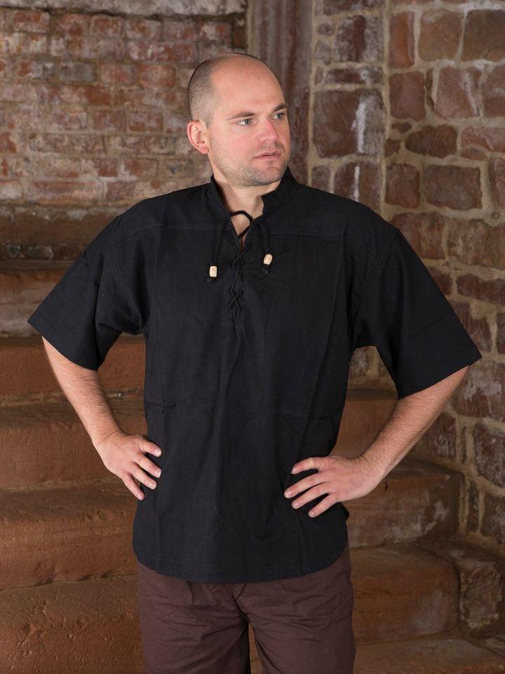 Kurzes Mittelalterhemd L | schwarz 2