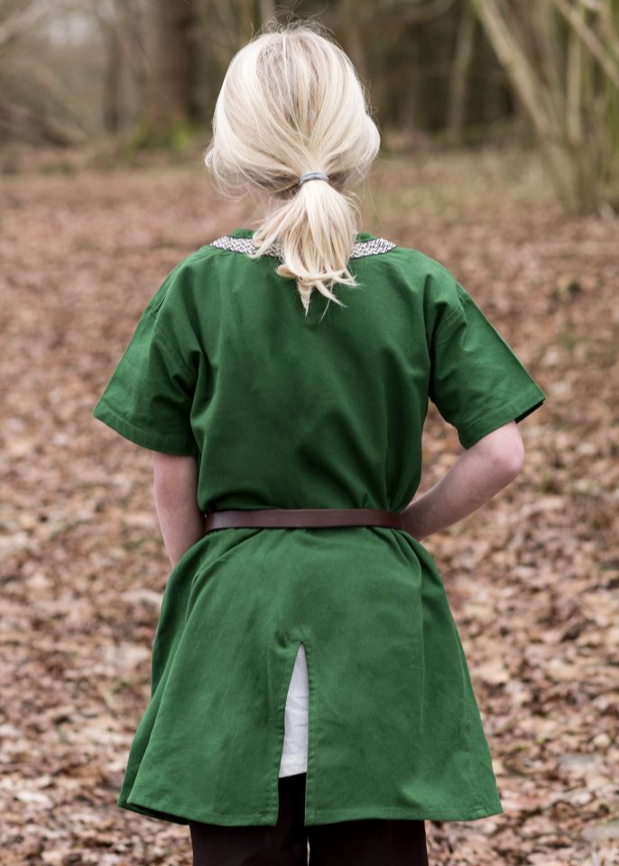 Kinder Tunika Ailrik kurzarm grün 2
