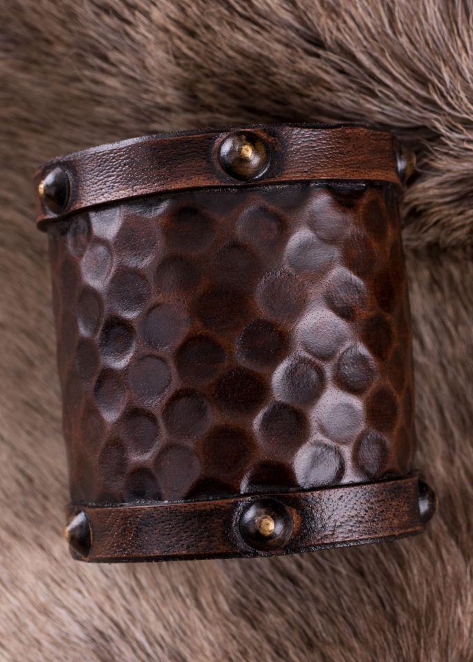 Schlichter Armschutz aus Leder klein 2