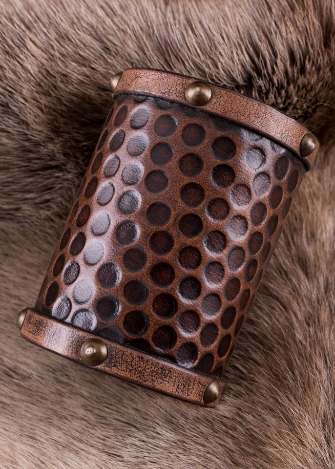 Schlichter Armschutz aus Leder groß 2