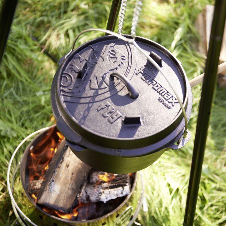 Feuertopf aus Gusseisen 9 Liter 2