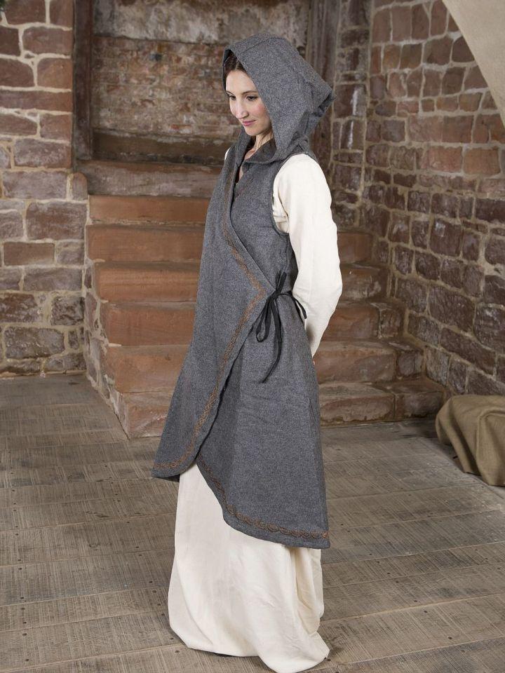 Wickelkleid Dala aus Wollfilz grau S/M 2