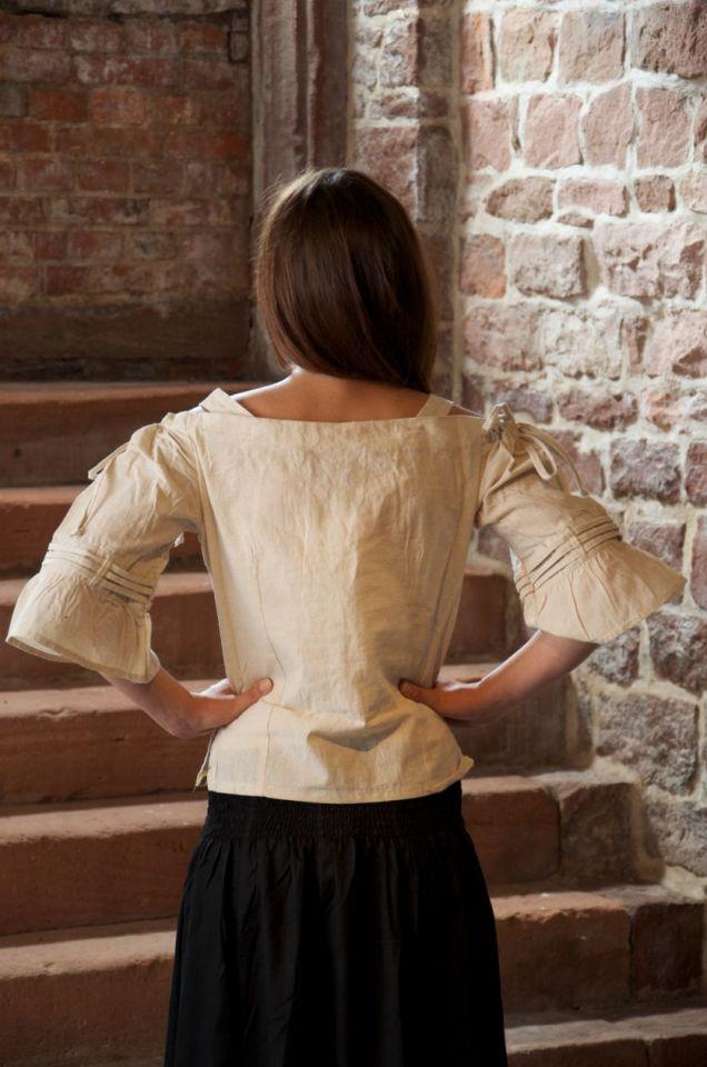Bluse mit verstellbaren Trägern, natur XL 2