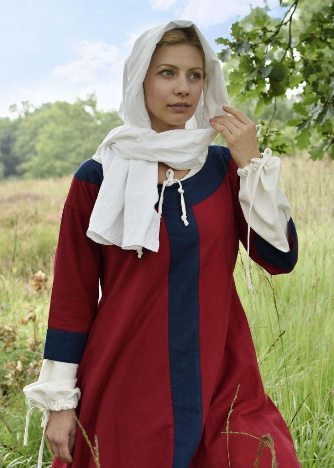 Mittelalterkleid Radegundis rot-blau 2