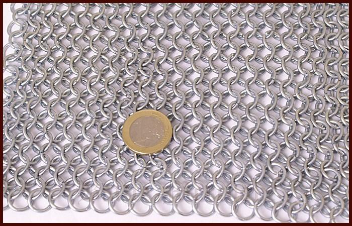 Kettenhaube, quadratischer Ausschnitt, verzinkt 2