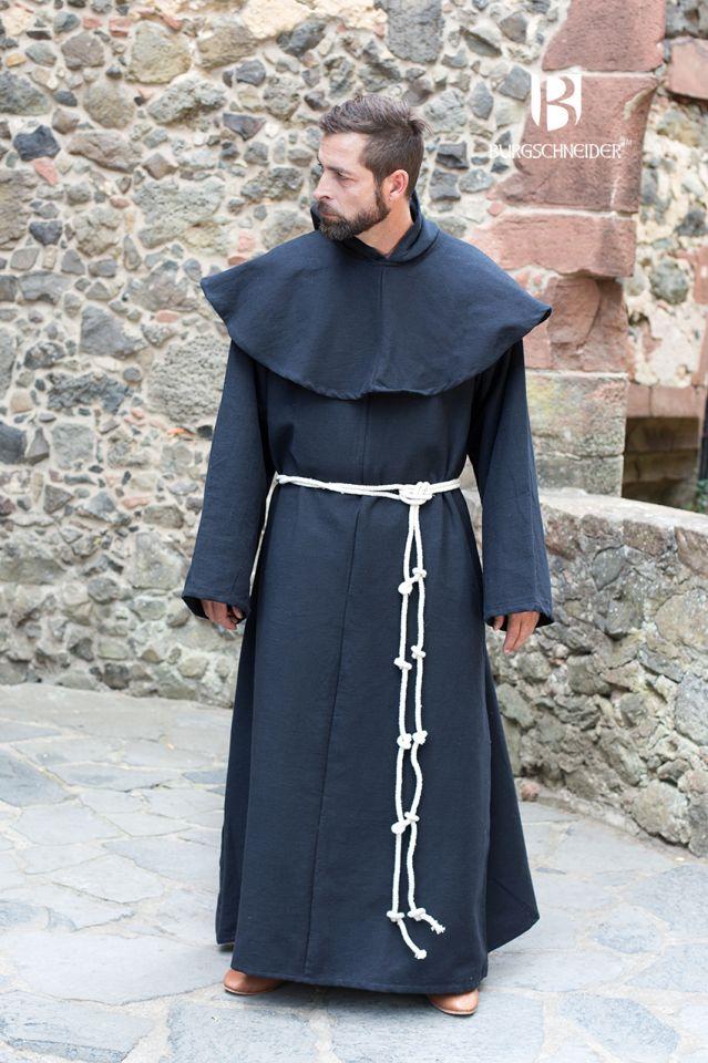 Mönchskutte Benediktus schwarz 2