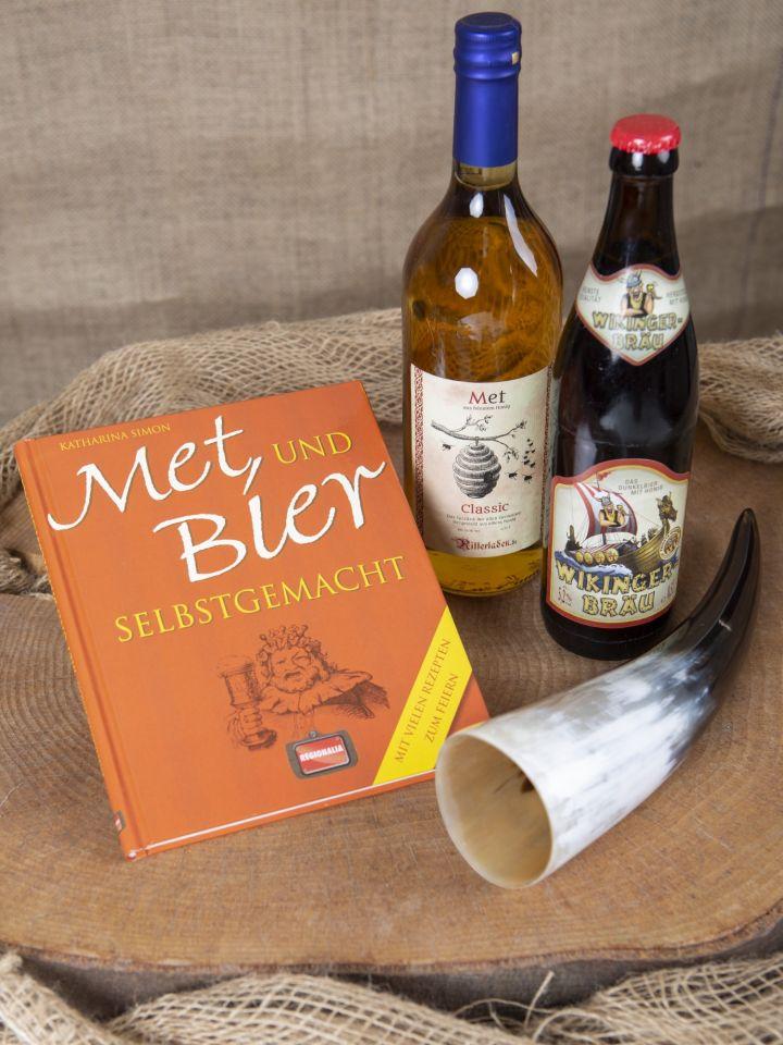 """Geschenkset """"Met und Bier"""" mit Trinkhorn 2"""