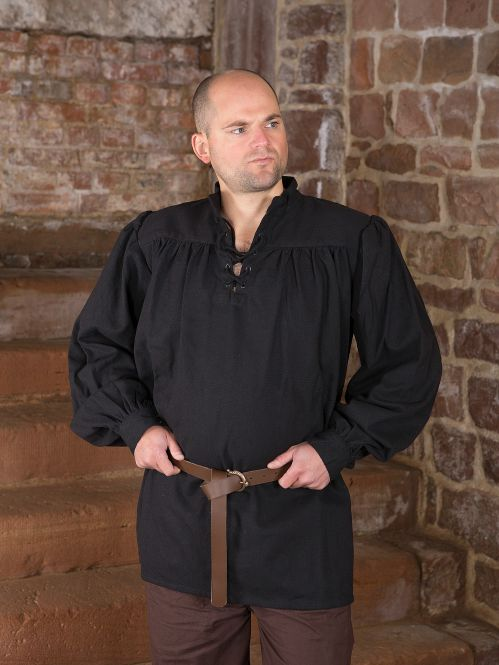 einfaches Gewandungshemd schwarz 2