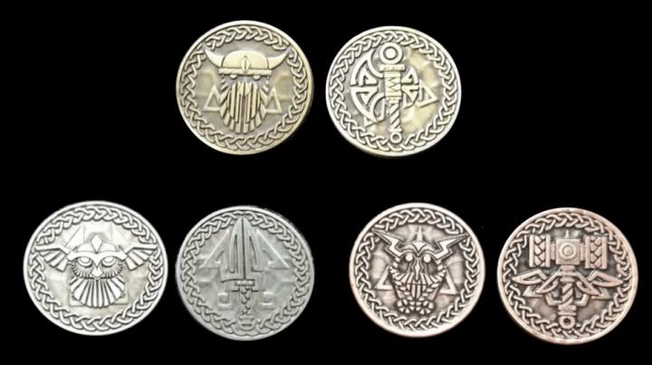 LARP-Münzen Nordmann ohne Lederbeutel 2