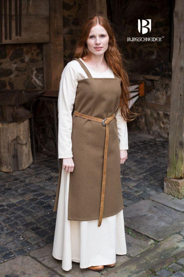 Wikingerkleid Jodis - Wolle, herbstgrün M 2
