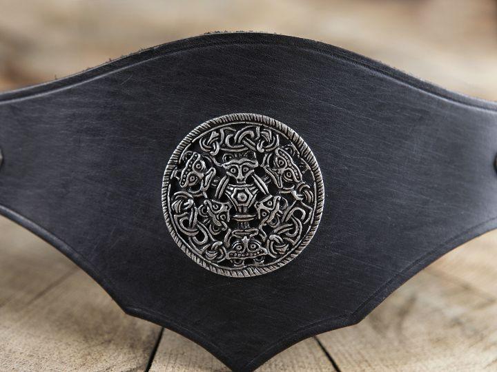 Miedergürtel mit Metallbeschlag, schwarz 2