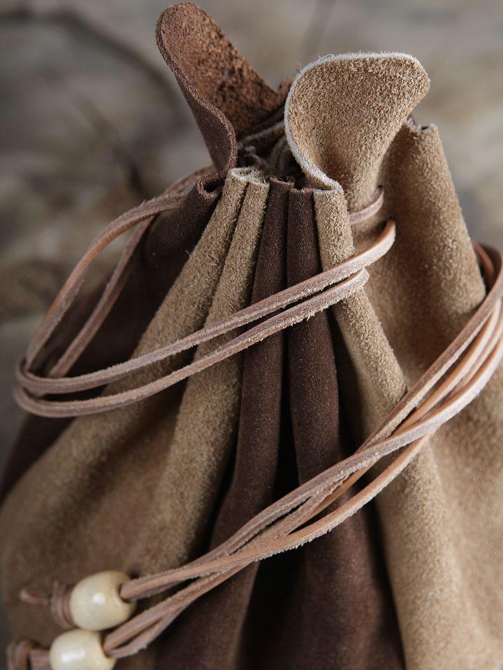 Beuteltasche zum Umhängen - aus Leder 2