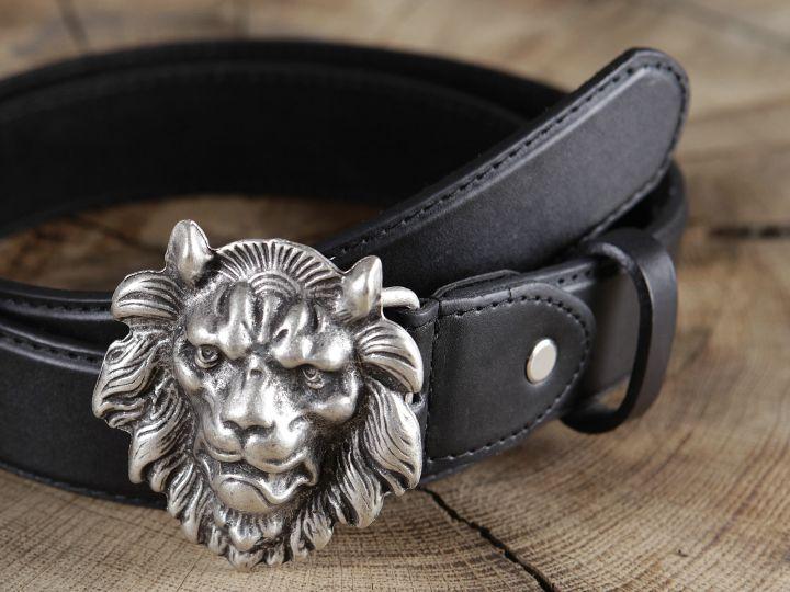 Ledergürtel Löwenkopf 2