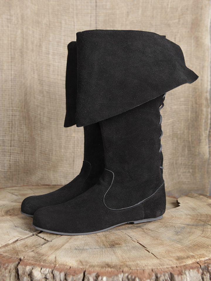 Stiefel mit Stulpe aus Wildleder 2