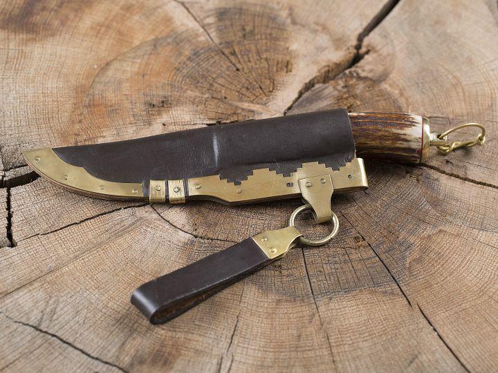Wikingermesser mit Hirschhorngriff 2