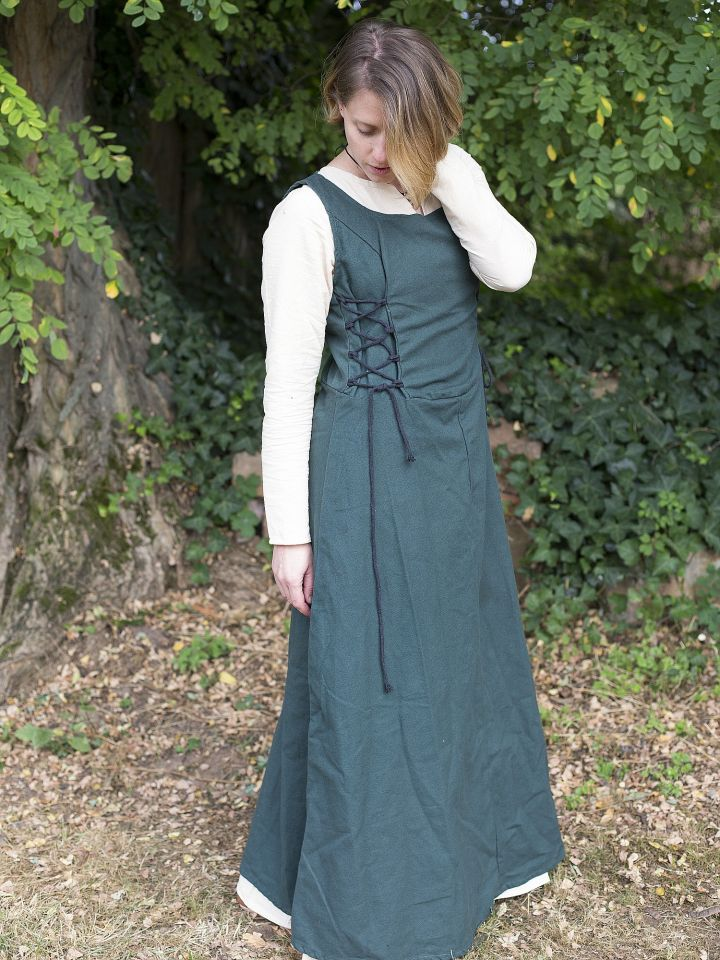 Ärmelloses Trägerkleid aus Canvas grün L 2