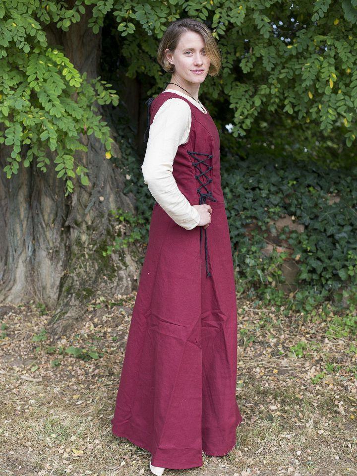 Ärmelloses Trägerkleid aus Canvas rot 2