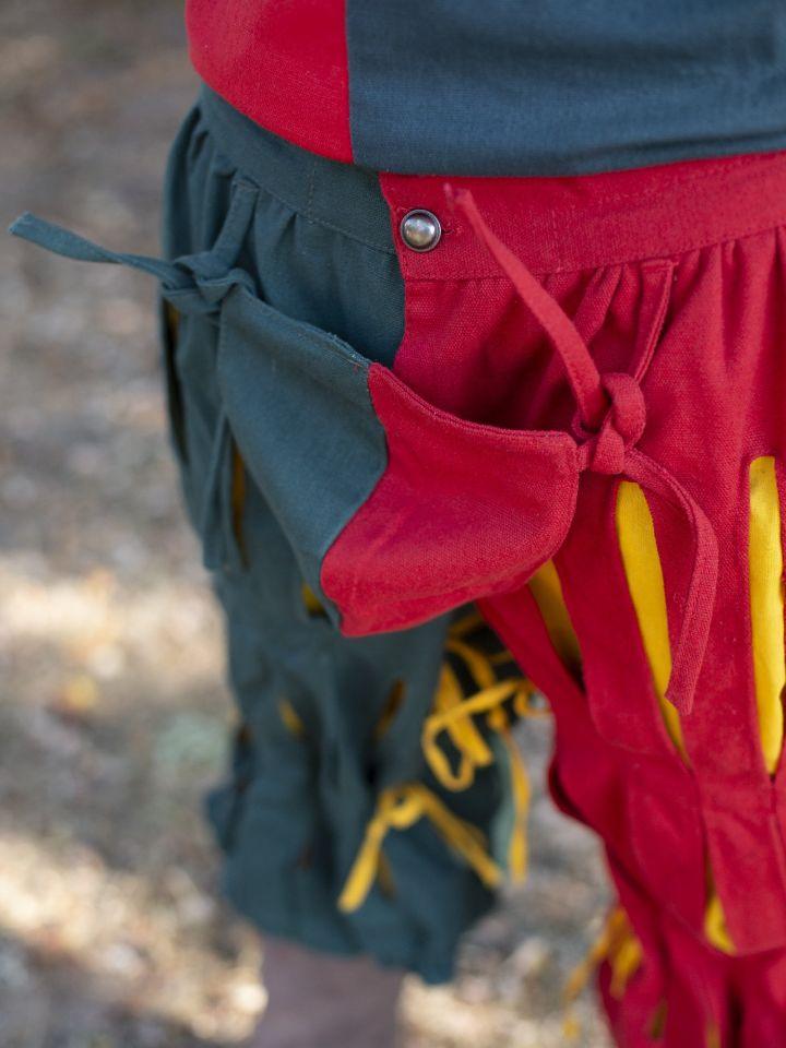 geschlitzte Landsknechthose rot-grün 2