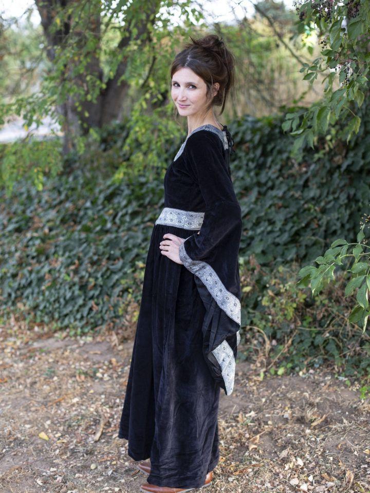 Kleid Burgund in schwarz 2