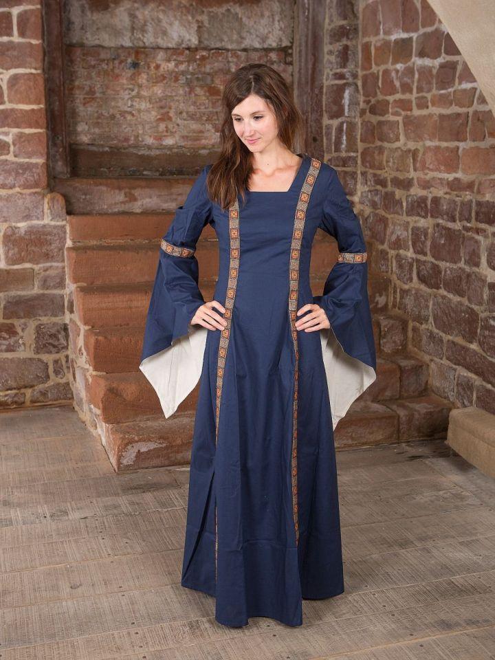 Mittelalterkleid Rahel in blau M 2