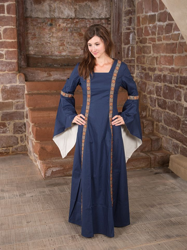 Mittelalterkleid Rahel in blau 2
