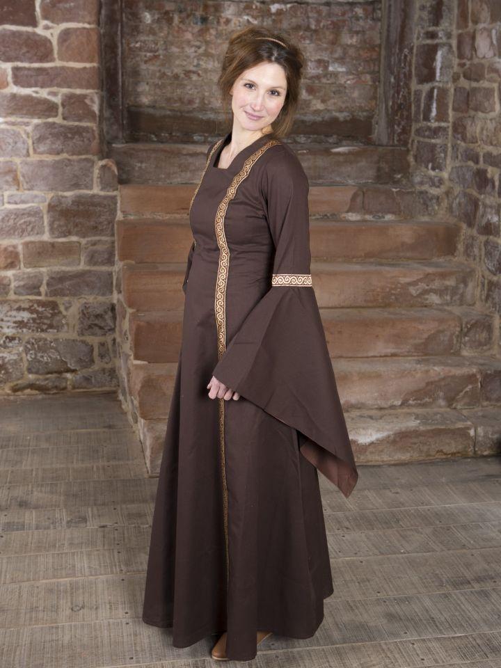 Mittelalterkleid Rahel braun 2