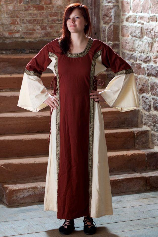 Kleid Klarissa rot-natur XXL 2