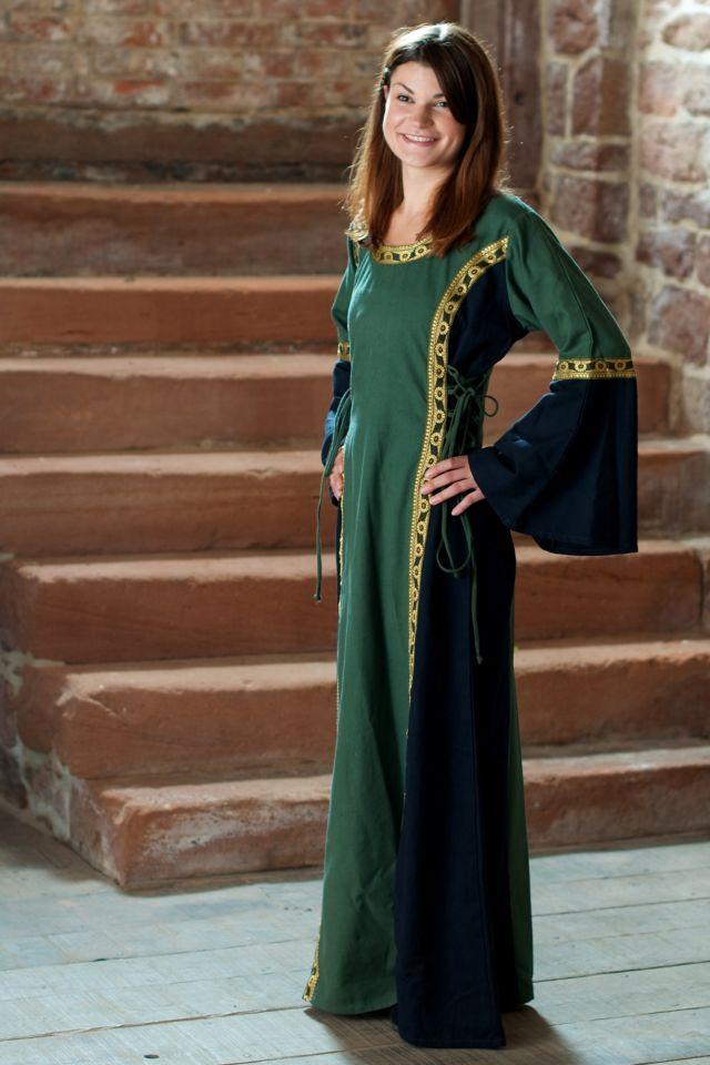 Kleid Klarissa grün-schwarz 2