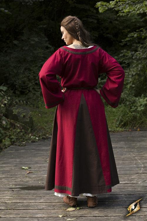 Kleid Astrid rot-braun 2