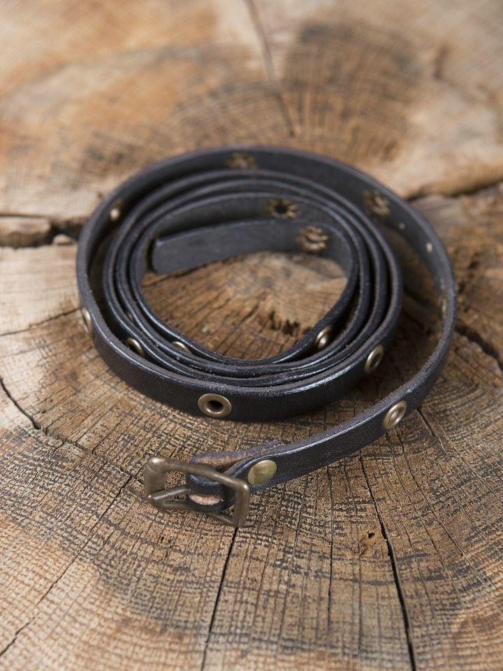 Wickelarmband aus Leder schwarz 2