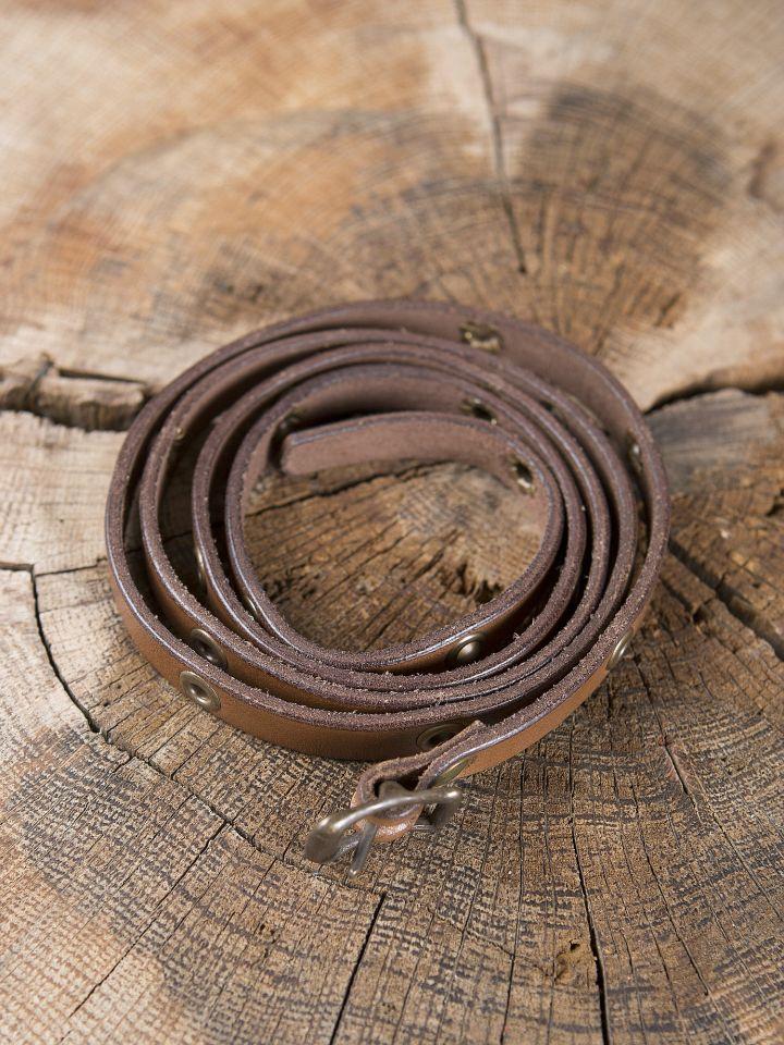 Wickelarmband aus Leder braun 2