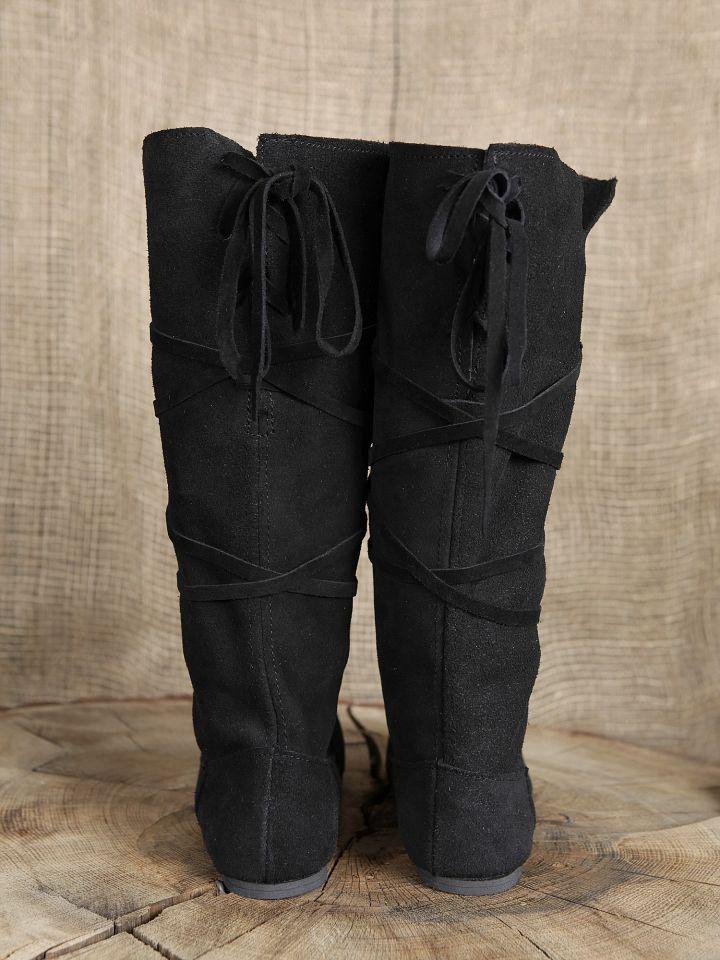 Hohe Stiefel aus Wildleder schwarz 2